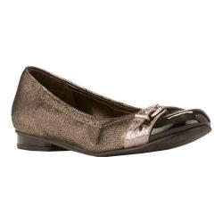 Women's Rose Petals by Walking Cradles Mulberry Slip On Pewter Shimmer Suede/Black Patent/Pewter Snake