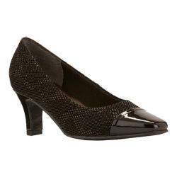 Women's Rose Petals by Walking Cradles Race Black Textured Teardrop/Black Patent (More options available)
