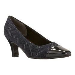 Women's Rose Petals by Walking Cradles Race Navy Textured Teardrop/Navy Patent