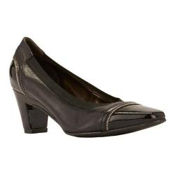 Women's Rose Petals by Walking Cradles Regent Pump Black Leather/Patent