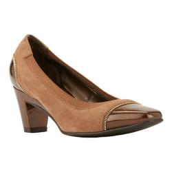 Women's Rose Petals by Walking Cradles Regent Pump Taupe Suede/Patent