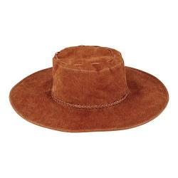 Women's San Diego Hat Company Real Suede Floppy Sun Hat CTH8040 Tobacco