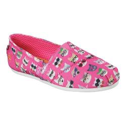 Women's Skechers BOBS Plush Kitty Smarts Alpargata Hot Pink