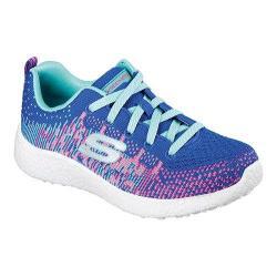 Girls' Skechers Burst Ellipse Athletic Shoe Blue/Hot Pink