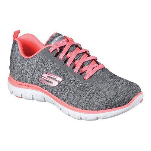 the best attitude f7daf cdf02 Shop Women s Skechers Flex Appeal 2.0 Training Sneaker Gray Coral - Free  Shipping Today - Overstock - 12250094