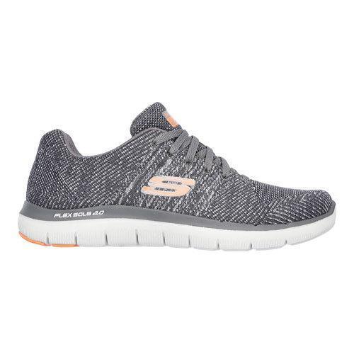 Men's Skechers Flex Advantage 2.0 Missing Link Sneaker CharcoalOrange   Shopping The Best Deals on Athletic