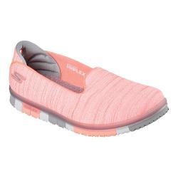 Women's Skechers GO MINI-FLEX Walk Slip On Walking Shoe Coral