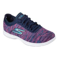 Women's Skechers GO STEP Prismatic Walking Shoe Navy/Pink