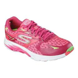 Women's Skechers GOrun Ride 5 Running Shoe Hot Pink/Green