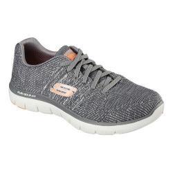 Men's Skechers Flex Advantage 2.0 Missing Link Sneaker Charcoal/Orange
