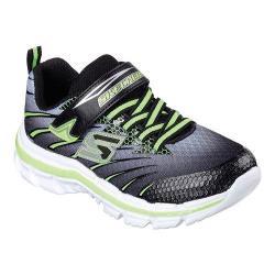 Boys' Skechers Nitrate Pulsar Sneaker Black/Lime