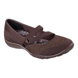 Women's Skechers Relaxed Fit Breathe Easy Lucky Lady Mary Jane Chocolate