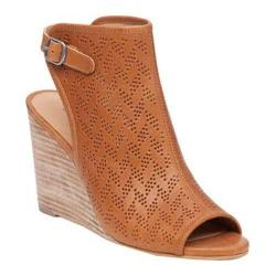 Women's Lucky Brand Risza2 Open Toe Bootie Cashew Leather