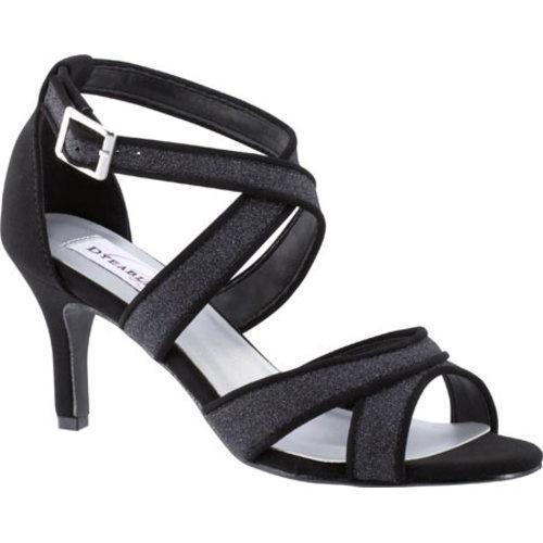 Women's Dyeables Amber Strappy Sandal Black Glitter