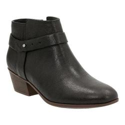 Women's Clarks Boylan Dawn Black Goat Corrected Full Grain Leather