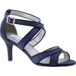 Women's Dyeables Amber Strappy Sandal Navy Glitter