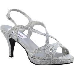 Women's Dyeables Chloe Platform Sandal Silver Shimmer