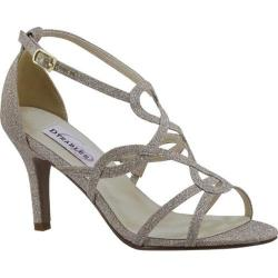 Women's Dyeables Madison Strappy Sandal Champagne Glitter|https://ak1.ostkcdn.com/images/products/125/474/P19107385.jpg?_ostk_perf_=percv&impolicy=medium