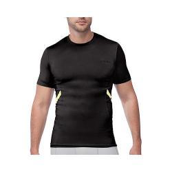 Men's Fila Endurance Short Sleeve Compression Tee Black/Safety Yellow