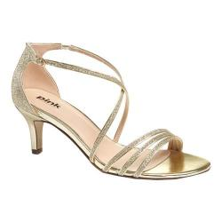 Women's Pink Paradox London Isla Sandal Gold Glitter