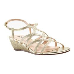 Women's Pink Paradox London Opulent Wedge Sandal Gold Glitter
