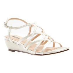 Women's Pink Paradox London Opulent Wedge Sandal Ivory Satin