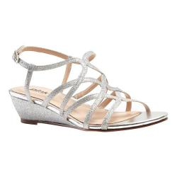 Women's Pink Paradox London Opulent Wedge Sandal Silver Glitter