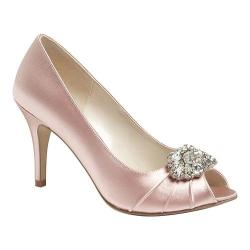Women's Pink Paradox London Tender Peep-Toe Pump Blush Satin