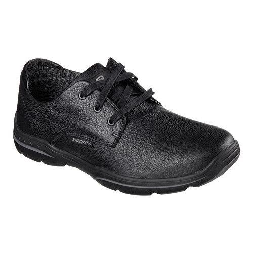 776389db4a09 Shop Men s Skechers Relaxed Fit Harper Epstein Oxford Black - Free Shipping  On Orders Over  45 - Overstock - 12267651