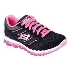 Women's Skechers Skech-Air 2.0 Training Shoe Black/Hot Pink