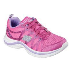 Girls' Skechers Swift Kicks Shimmie Up Sneaker Neon Pink/Lavender