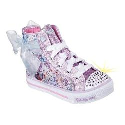 Girls' Skechers Twinkle Toes Shuffles Buzzing Blossom High Top Lavender/Light Pink