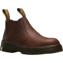 Men's Dr. Martens Rivet Steel Toe Chelsea Boot Teak Pitstop Leather