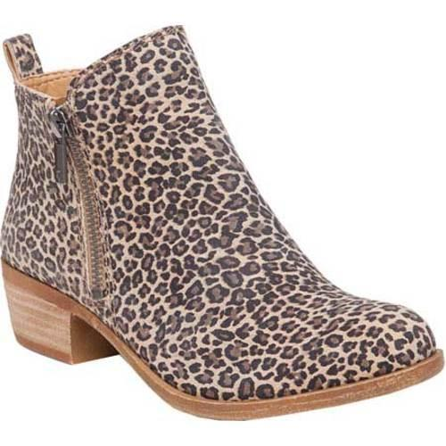 Women's Lucky Brand Basel Bootie Sesame Printed Suede