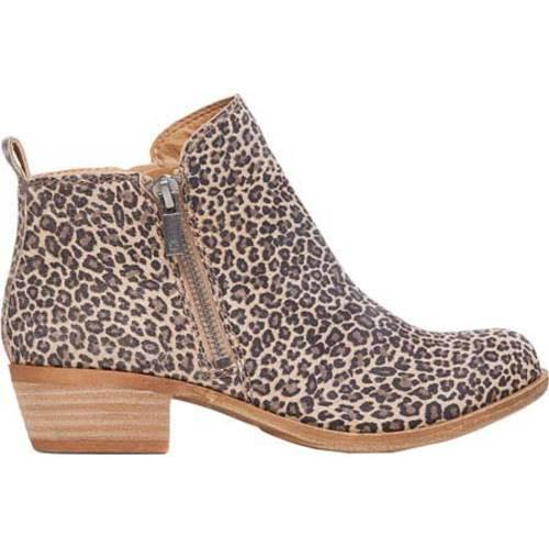 Women's Lucky Brand Basel Bootie Sesame Printed Suede - Thumbnail 1
