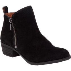 Women's Lucky Brand Basel Bootie Black Oiled Suede