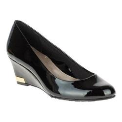 Women's Soft Style Gana Wedge Pump Black Patent