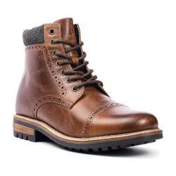 Men's Crevo Quebec Cap Toe Boot Chestnut Leather/Wool