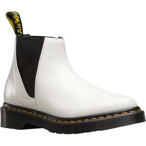 524152f1643 Women's Dr. Martens Bianca Low Shaft Chelsea Boot White Polished Smooth