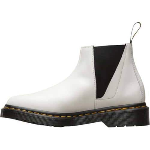 Andare a fare shopping carta lui  Shop Women's Dr. Martens Bianca Low Shaft Chelsea Boot White Polished  Smooth - Overstock - 12277155