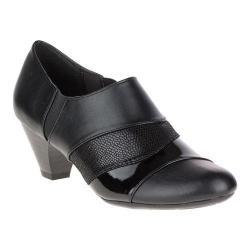 Women's Soft Style Geva Shootie Black Vitello/Patent/Lizard