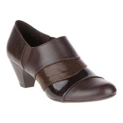 Women's Soft Style Geva Shootie Dark Brown Vitello/Pearlized Patent/Lizard
