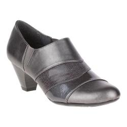 Women's Soft Style Geva Shootie Dark Pewter Vitello/Pearlized Patent/Lizard