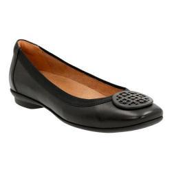 Women's Clarks Candra Blush Ballet Flat Black Sheep Full Grain Leather