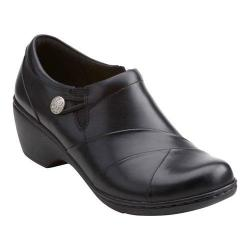 Women's Clarks Channing Ann Slip-On Black Cow Full Grain Leather