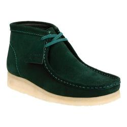 Men's Clarks Wallabee Boot Dark Green Suede