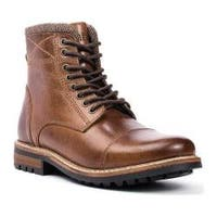 Men's Crevo Camden Chestnut Leather/Herringbone