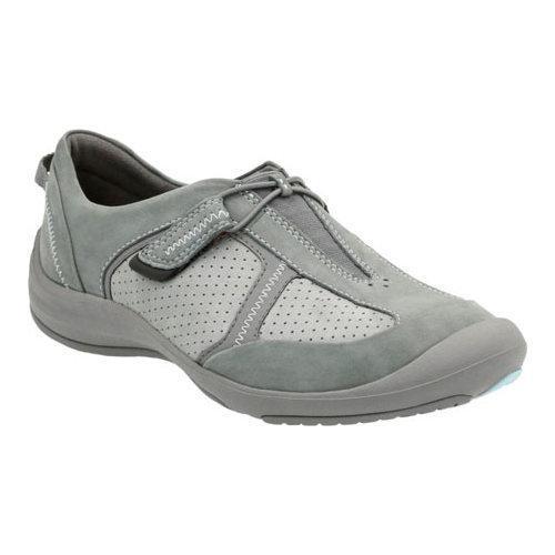 Women's Clarks Asney Slip-on Shoe Grey Nubuck