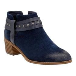 Women's Clarks Breccan Shine Ankle Boot Navy Suede
