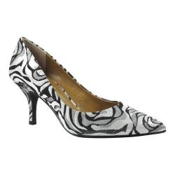 Women's J. Renee Marsha Pump Silver/Black Fabric